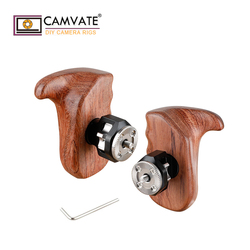 CAMVATE Wooden Hand Grip With M6 Rosette Mount (Left & Right)  C1979