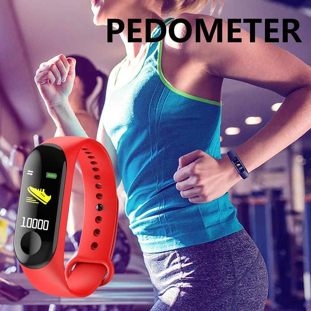 חכם ללבוש צמיד ספורט חכם להקת נשים חכם שעון קצב לב צג שינה גשש כושר צמיד גברים של שעון עמיד למים