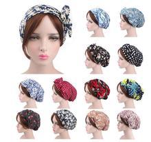 Nova moda mulher muçulmana hijabs turbante cabeça boné chapéu gorro islâmico senhoras acessórios para o cabelo muçulmano cachecol boné perda de cabelo algodão novo