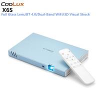 COOLUX X6S проектор для android устройств компактный смарт проектор Full HD 1080 P Беспроводной BT Wi Fi 4 K 3D DLP проектор для домашнего Театр