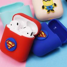 Bluetoot Earphone Box For Airpods Protective Cover Charging Box Anti-fall Earphone Cover For Apple Headphones Creative Cartoon