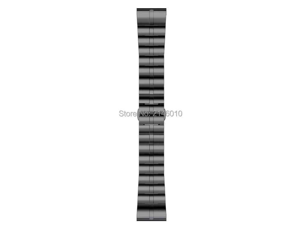Image 5 - Titanium Alloy Wristbands Watch Band Strap For Garmin Fenix 3 / HR Fenix 5X Black Silver Light Weight with Quick Fit-in Watchbands from Watches