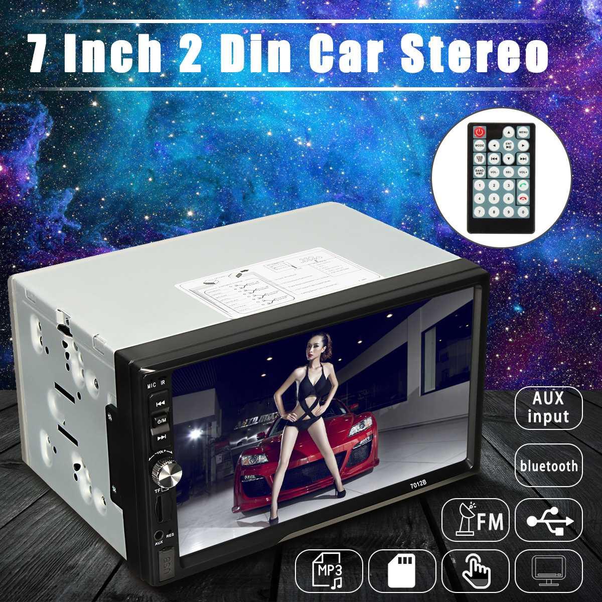 1 pièces 2 Din 7012B autoradio lecteur 7 pouces TFT HD pour écran tactile autoradio lecteur bluetooth mains libres voiture électronique