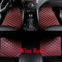 4pcs Universal PU Leather Car Floor mat Set Car Accessories Waterproof for RHD/LHD BMW 3 5 7 Series F20 E90 F30 E60
