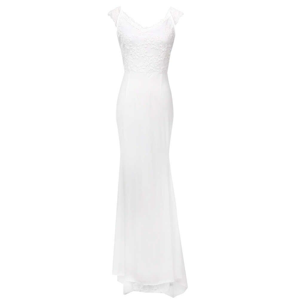 ארוך פורמליות מפלגה את שמלת כתף Vestidos ערב סקסי גבירותיי כדור סקסי Bodycon Slim Fit תחרה לנשף שמלת Dress2018