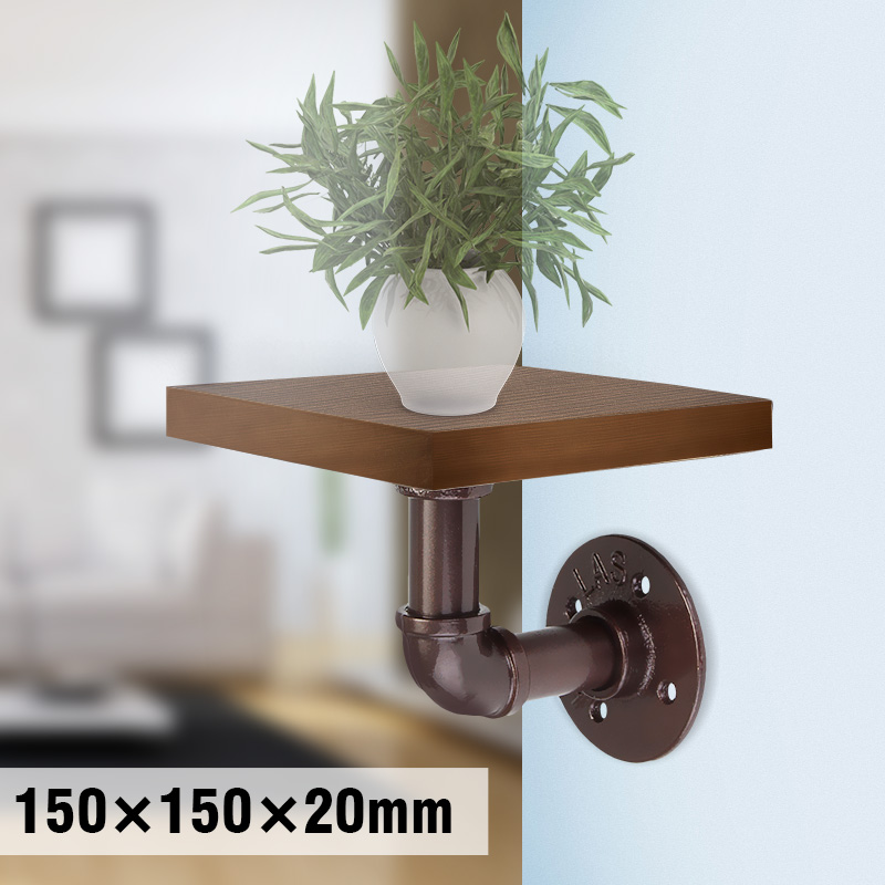 Decoration wall shelf Rack Wood beads Storage Industrial Retro Rustic Wood & Malleable Iron Pipe Flange Wall Mount Storage Shelf shelf
