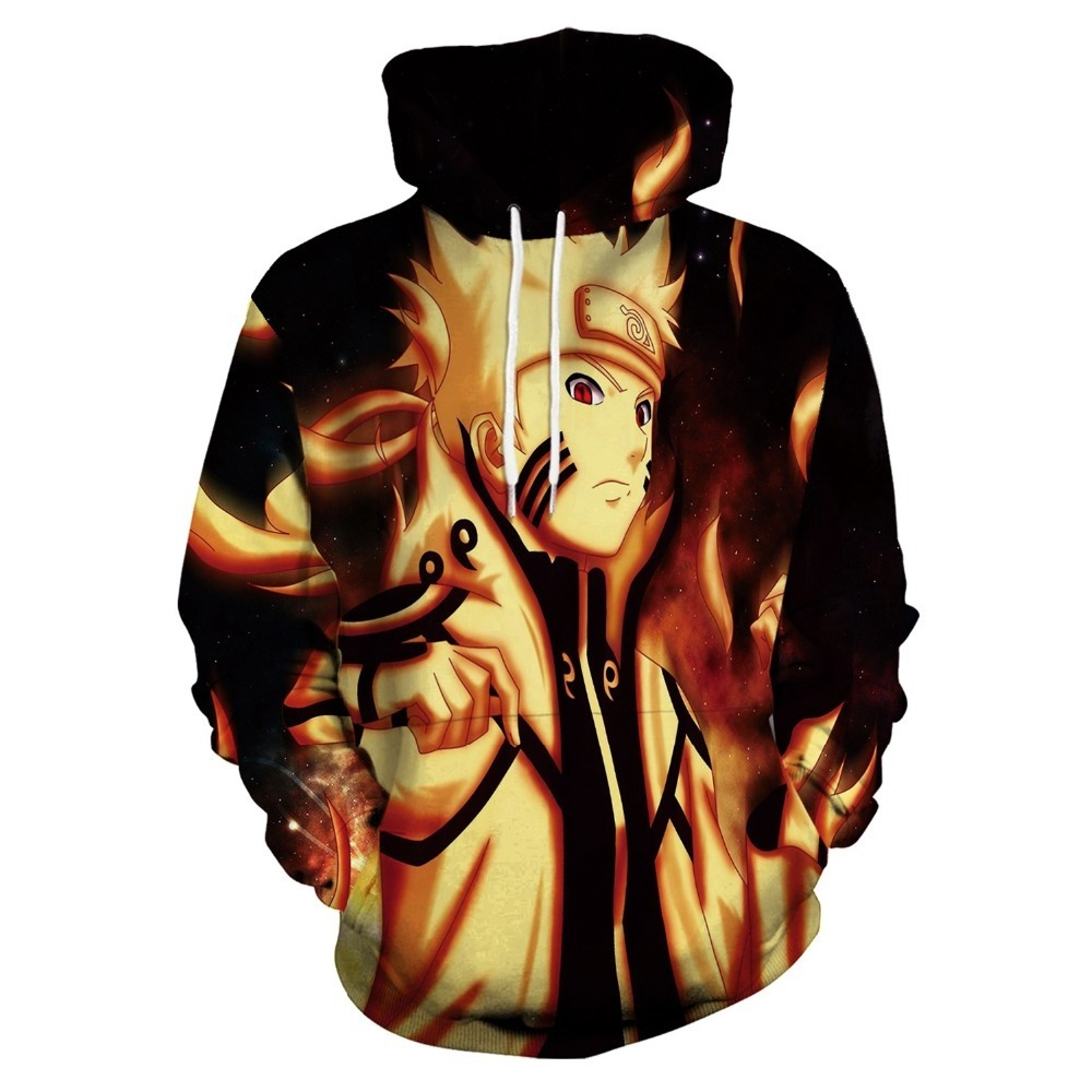 New 3d Printing Anime Naruto Fashion Hood Loose Sports Hooded Sweater Cosplay Costume Unisex
