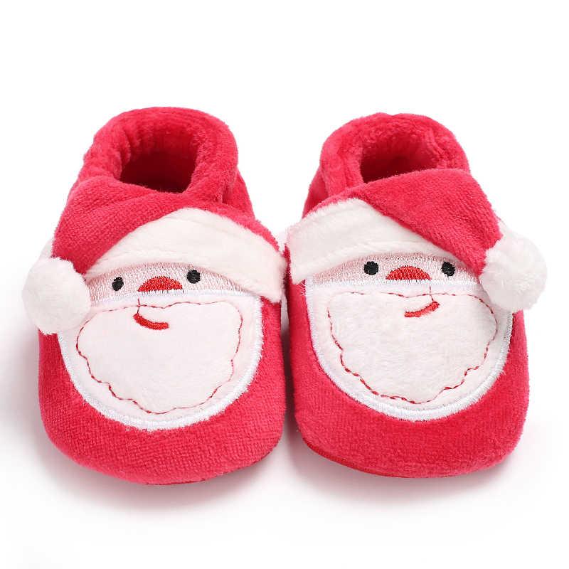 2018 г. Милая Рождественская обувь Canis зимние теплые удобные ботильоны для маленьких мальчиков и девочек обувь в форме оленя для малышей