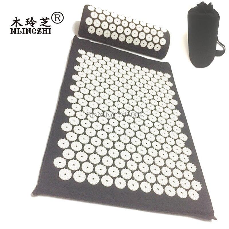 Deixar cair o transporte 68*42*2.5 cm 230 botões pico mat acupressure massagem almofada Aliviar Para Trás Do Corpo yoga ferramenta a cabeça do pescoço