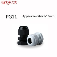 10pcs/lots PG11 Black/white Plastic Nylon Waterproof Cable Glands Joints IP68 cable connector for 5-10mm