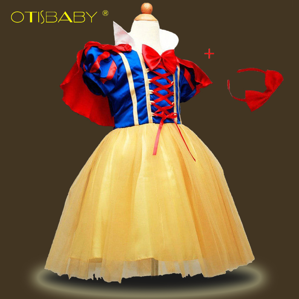 4PCS Children Girl Snow White Dress for Girls Prom Princess Dress Kids Baby Gifts Infants Party Clothes Fancy Teenger Clothing цена