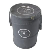 Emporiaz Cotton Laundry Basket Oxford Foldable Dirty Laundry Bags & Basket Folding Wash Bag Laundry Hamper With Lip Laundry Baskets