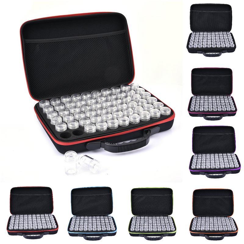60 слотов Алмазная вышивка коробка алмазные аксессуары для рисования чехол прозрачные пластиковые бусины дисплей коробки для хранения молн