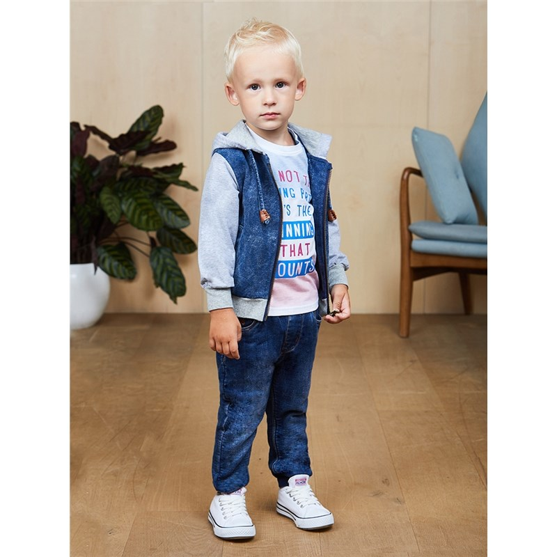 Jeans Sweet Berry Denim pants for boys kid clothes zip fly ripped denim cropped pants for men