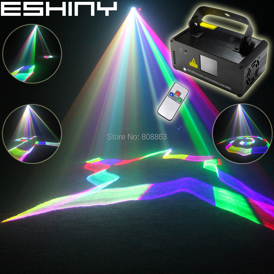ESHINY RGB DMX 400 Laser 3D Projector Lines Beam Effect DJ Equipment Disco Party Xmas Stage
