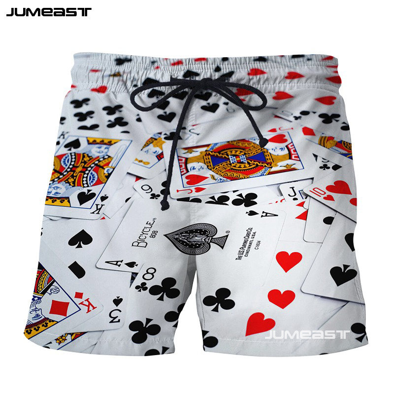 Men's Clothing Learned Jumeast Fashion Poker 3d Print Short Pants Red Peach A Spades A Casual Men Sport Loose Size Shorts Novelty Board Shorts