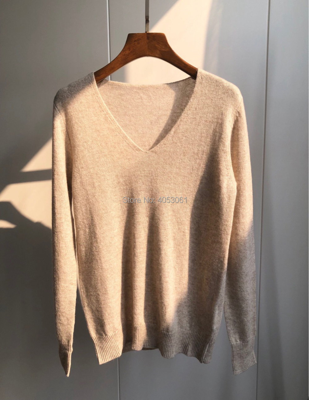 Cashmere 100 V neck Soft Skin friendly Sweater 2019ss Multi color Optional Top Knit Sweater