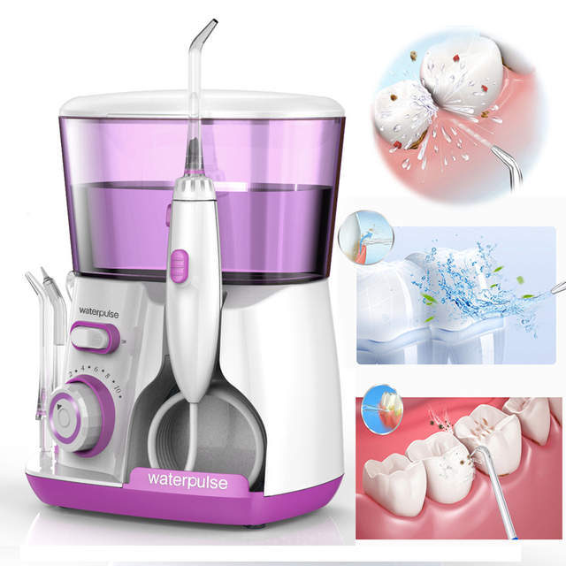 Pro V300G New Electric Water Flosser Oral Irrigator 5pcs Tips 800ml Oral Hygiene Dental Water Flossing Tooth Cleaner Set