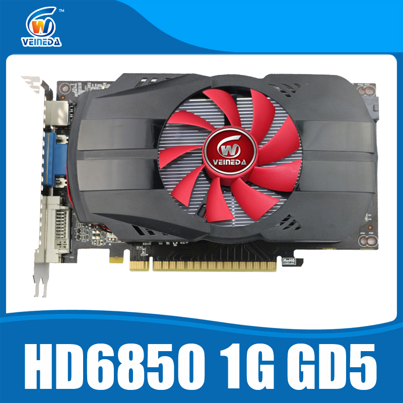 Original graphics cards veineda HD6850 1GB GDDR5 graphic card HDMI DP DVI port for Radeon Stronger than R7 350, HD6750, GT740 original desktop gpu graphics card veineda r7 350 2gb gddr5 128bit independent game video card r7 350 for ati radeon gaming