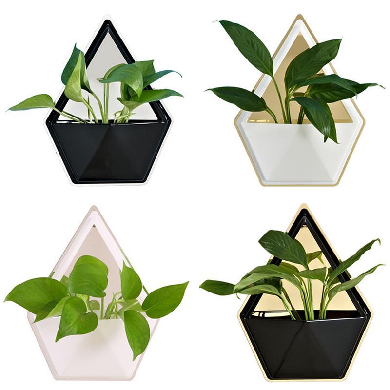 Creatief Thuis Woonkamer Creatieve Wanddecoratie Container Tuin Ornamenten Geometrische Persoonlijkheid Vetplant Potten Indoor Ornamenten Opruimingsprijs