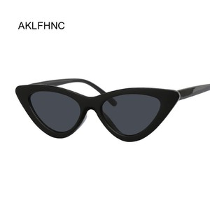 Sexy Red Cat Eye Sunglasses Women Shades Famous Brand Luxury New Designer Trendy Sun Glasses Female Small White Black Points