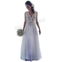 Wedding Dress 2019 Champagne Lace A-line Vestido De Novia