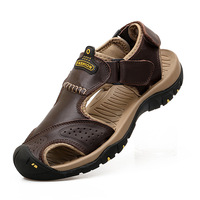 Пляжная обувь из натуральной кожи мужские сандалии мужская обувь повседневная удобная обувь для отдыха