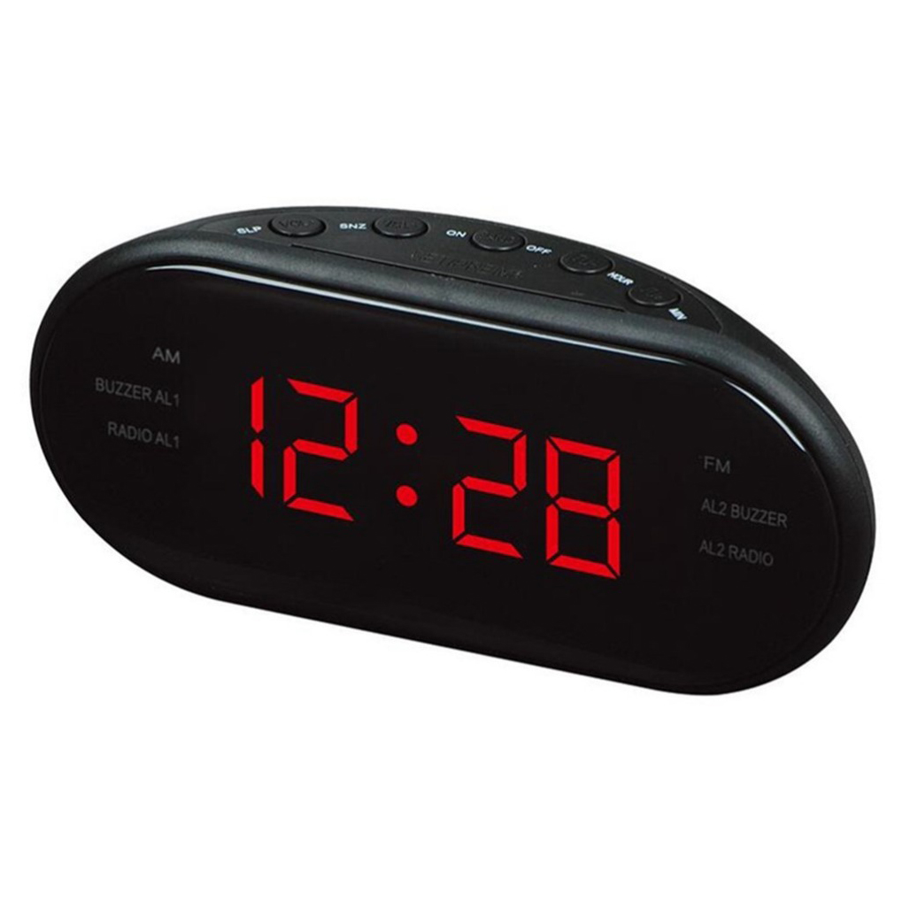 LUDA VST VST-902 Fashion Modern AM/FM Led Clock Radio Electronic Desktop Alarm Clock Digital Table Clocks Snooze Function-25 U image