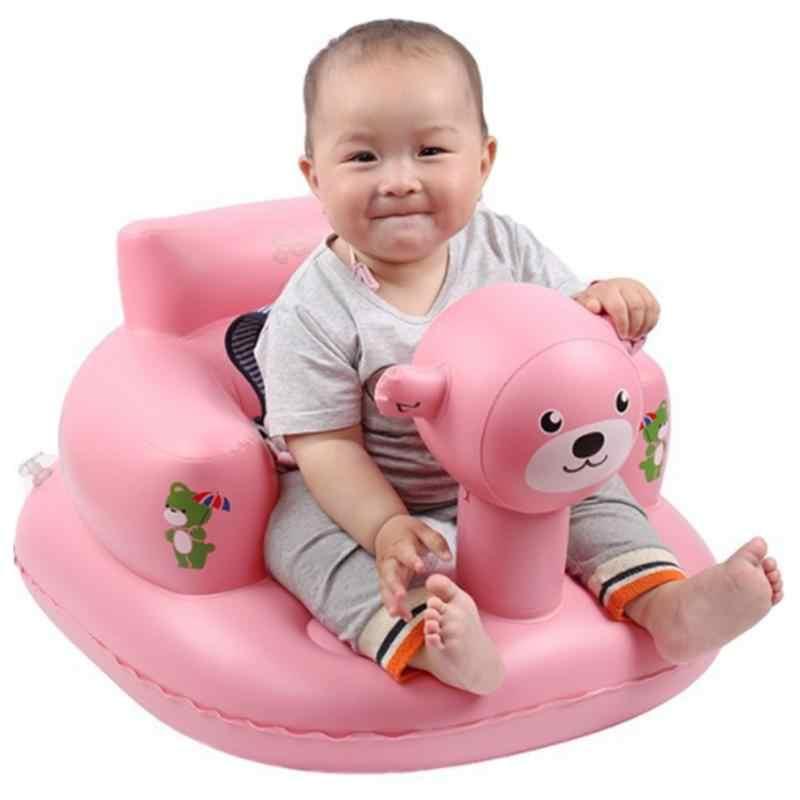 เด็ก Inflatable เก้าอี้ PVC เด็กที่นั่งโซฟา Bath ที่นั่งรับประทานอาหารรถเข็นเด็กทารกแบบพกพาเล่นเกมโซฟา Stool