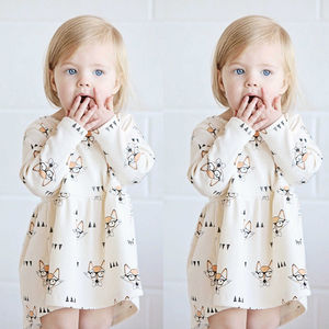 Pudcoco Girl Dress 3M-4Y Cute Infant Baby Girls Dress Princess Glasses Casual Party Dresses Sundress(China)