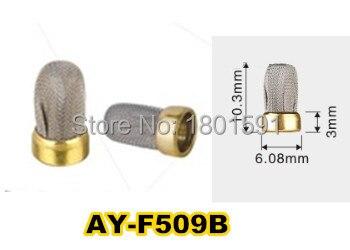 O envio gratuito de 10 peças injector combustível metal micro filtro 10.3*6.08*3mm para bosch unviersal injector combustível kits reparação (AY-F509B)
