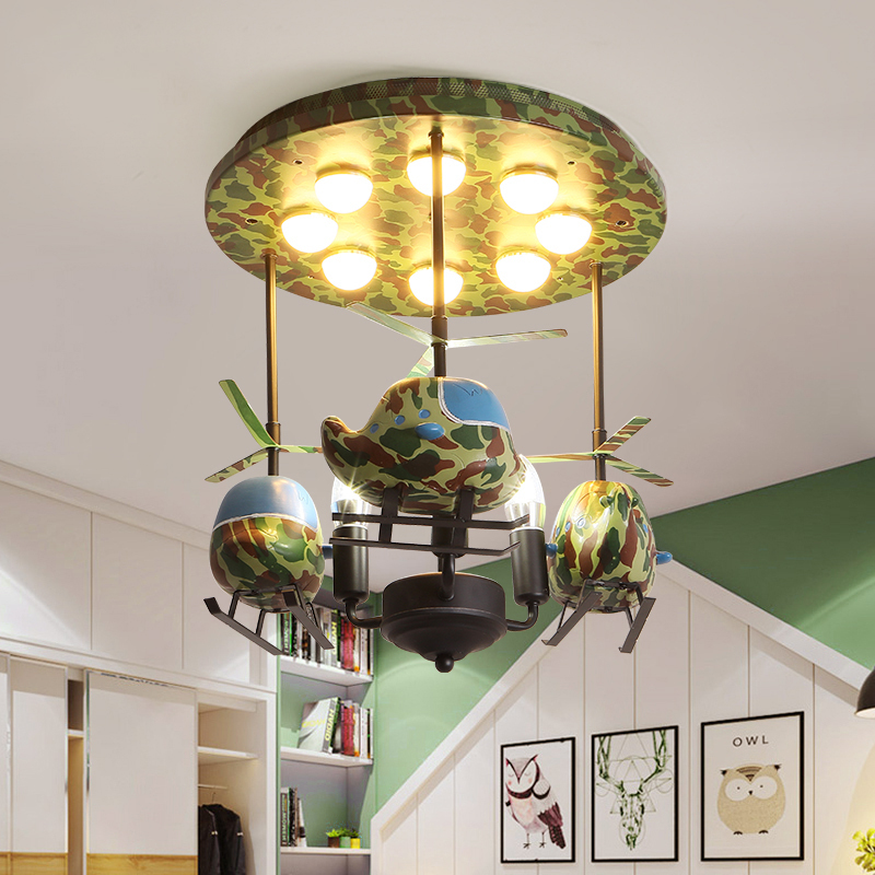 Helicopter Airplane Boys Ceiling Lights