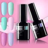 Embellislux 1pc lumière couleur printemps fleur bleu vert rose Gel vernis à ongles UV LED imbiber ongles Art Gel vernis vernis 10ml