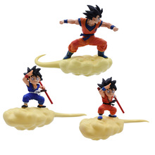 3 Styles Anime Dragon Ball Z  Super Saiyan Goku FES Somersault cloud PVC Action Figure Doll Model Toy Halloween Christmas Gift