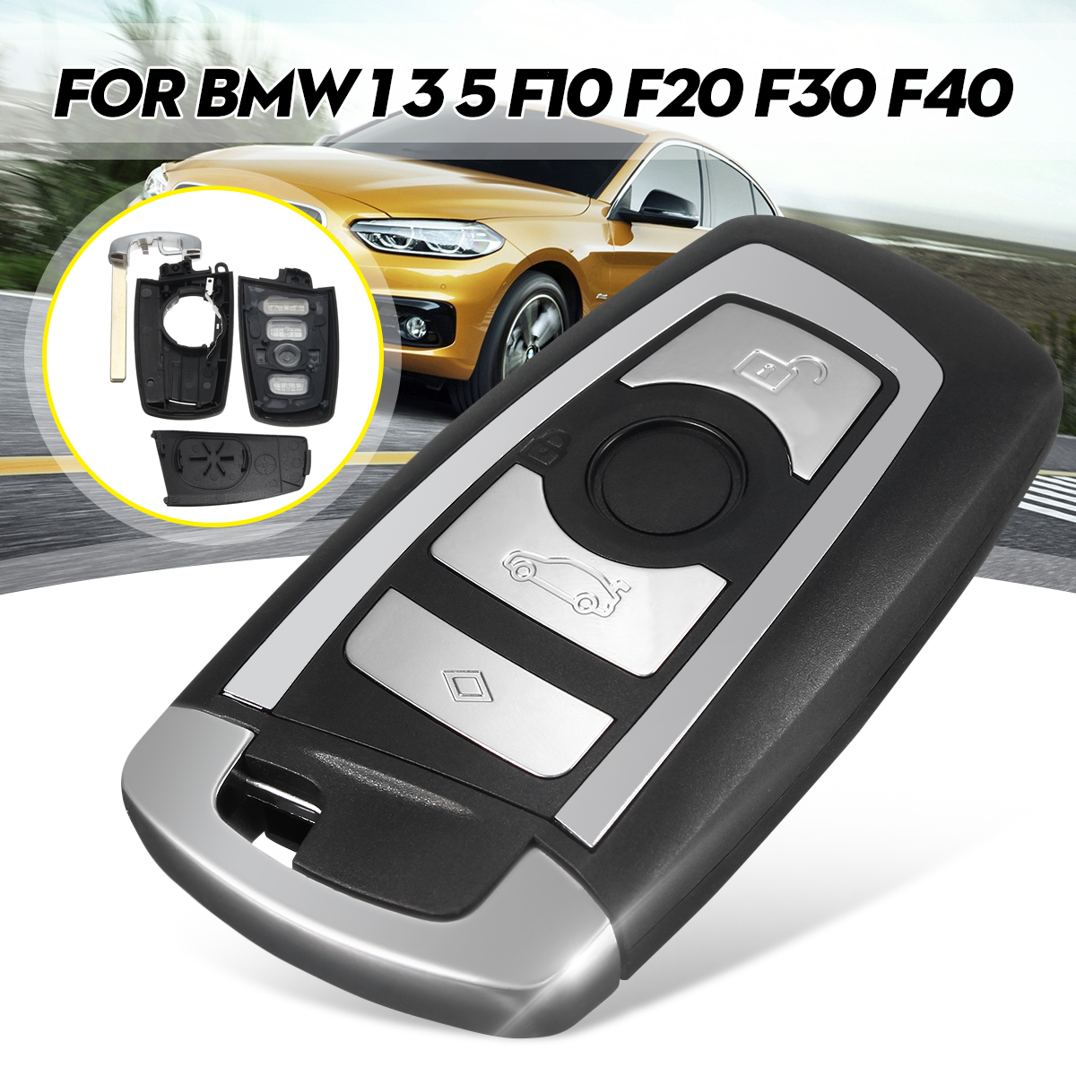 bmw f40 - 4 Botton Uncut Blade Fob Remote Key Shell Case F10 F20 F30 F40 Series For BMW 1 3 5