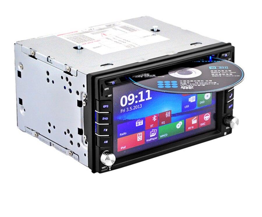 Универсальный WCE системы gps навигации с 8 Гб карта Северной Америки карты 2Din HD стерео DVD CD плееры FM Bluetooth Радио