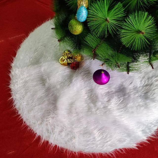 Outdoor Christmas Decorations 2019.Us 8 19 29 Off 2019 Christmas Tree Skirt Pure White Long Plush Christmas Tree Skirt Hotel Shopping Mall Outdoor Decor Home Christmas Decoration In