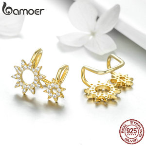 Image 4 - BAMOER Authentic 925 Sterling Silver Sunny Shape Geometric Necklaces Pendant & Earrings Jewelry Set Fine Jewelry Making Gift