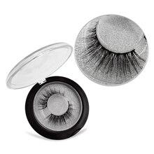SHIDISHANGPIN 1 pair natural crisscross false eyelashes hand made 3d mink 10mm cilios customize lashes