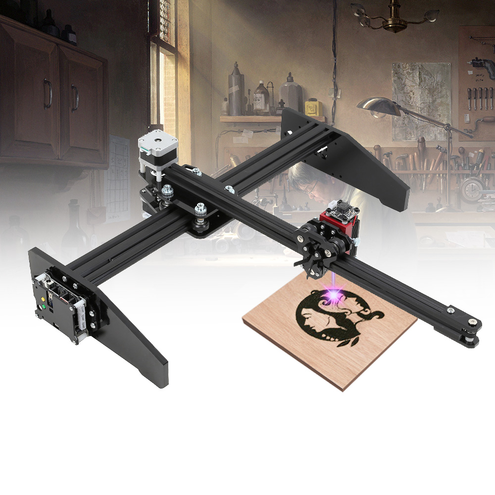 3D Gradient DIY Desktop Drawing Laser Engraving Machine Adjustable Laser Focal Length Wood Router Frameless Woodworking Machine