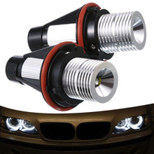 цена на 2x 10W LED White Angel Eyes Ring Marker Bulb Light Headlight Lamp Lights For BMW X5 E39 E60 E63 E61