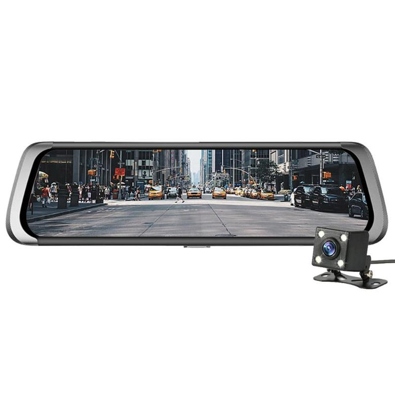 10in Dual Lens BT WiFi Android Car Rearview Mirror DVR Camera GPS Navigator