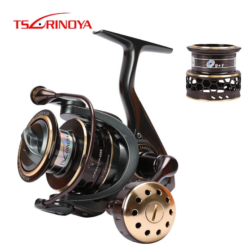 TSURINOYA Fishing Reel Jaguar 4000 5000 Double Spool 9 1BB 5 2 1 Fishing Lure Spinning