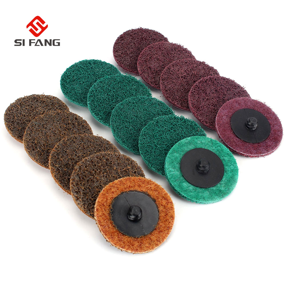 10Pcs Sanding Discs Set  2 Inch  Roloc Type R Surface Polishing Conditioning Disc Quick Change Discs Surface Conditioning Discs