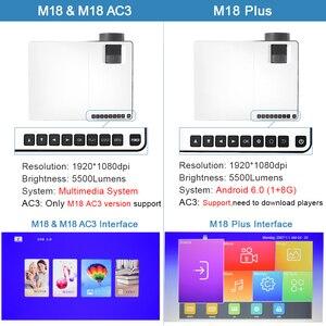 Image 5 - Everycom m18 nativo 1920x1080 real completo hd projetor casa multimídia vídeo game projetor beamer (opcional android wifi ac3)