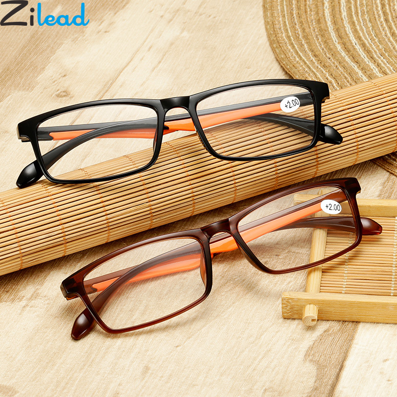 Zilead Ultra-Light TR90 Reading Glasses Women&Men Clear HD Lens Presbyopia Eyeglasses With Diopter +1.0...+4.0 For Parents