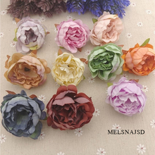 Melsnajsd 5pcs 5cm High Quality Peony Flower Head Silk Artificial Flower Wedding Decoration DIY Garland Craft Flower yooromer 5pcs lot 8 5cm high quality peony flower head silk artificial flower wedding decoration diy garland craft flower