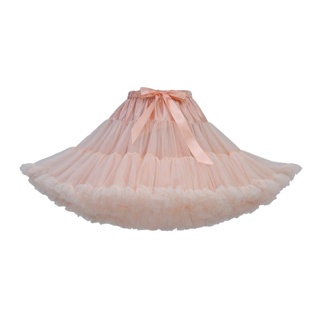 MISSKY Women Girl Fluffy Girl Adult Pettiskirt Tutu Women Tutu Party Dance Adult Skirt Performance Cloth TulleSkirt