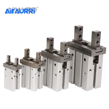 цена MHZ2 10D 16D 20D 25D 32D 40D Double Acting Air Gripper Pneumatic Finger Cylinder SMC Type Aluminium Clamps Bore 10-40mm Grab онлайн в 2017 году