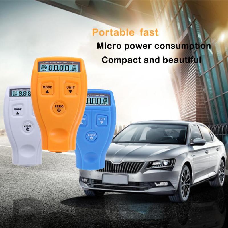 Inglés manual ruso GM200 revestimiento pintura medidor de espesor coche pintura medición de espesor rm660 del probador del metro
